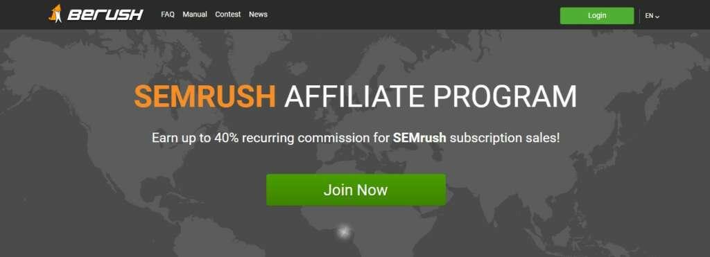 Berush - Top recurring affiliate Network