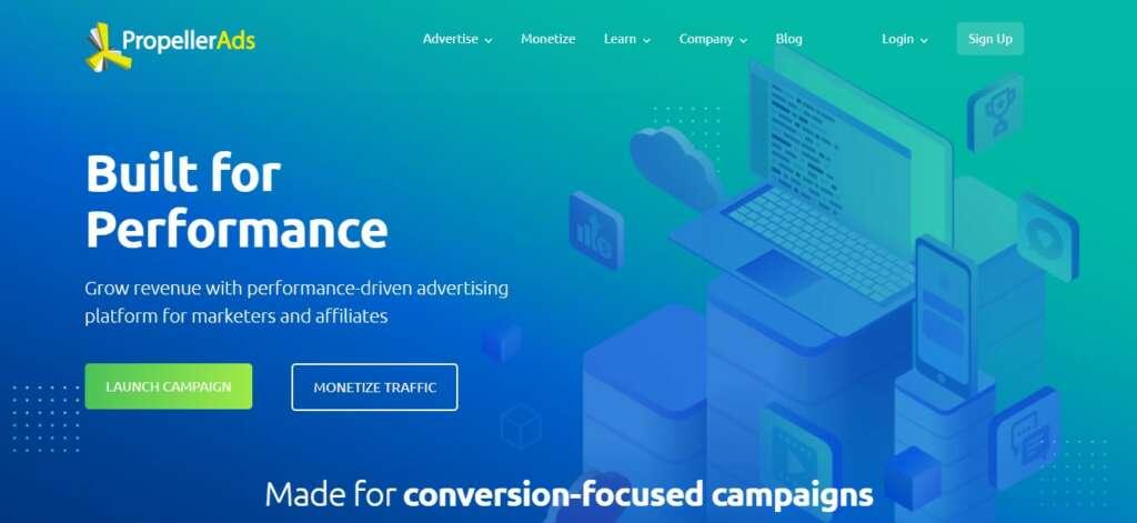 PropellerAds - Best advertising network