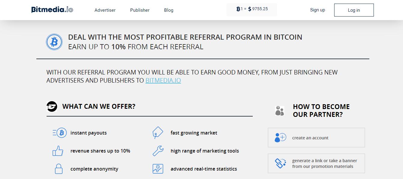 Bitmedia Affiliate Program