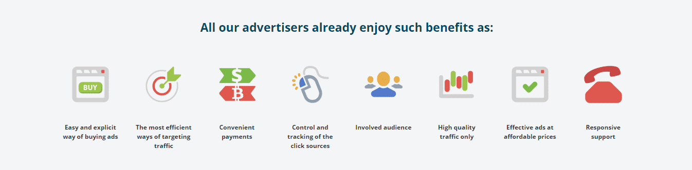 Bitmedia features for advertisers