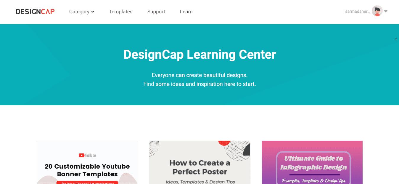 DesignCap Learning Center