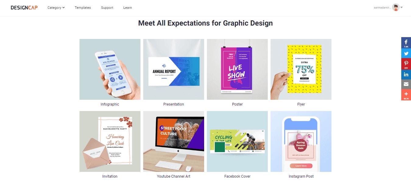 Graphic Designing on DesignCap
