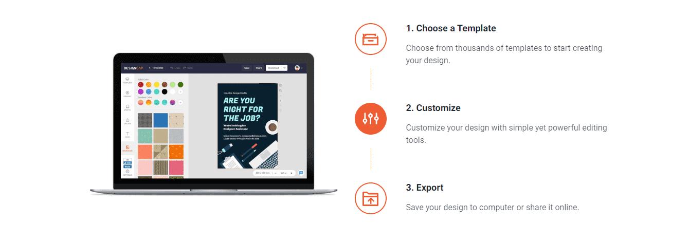 How to create design on DesignCap