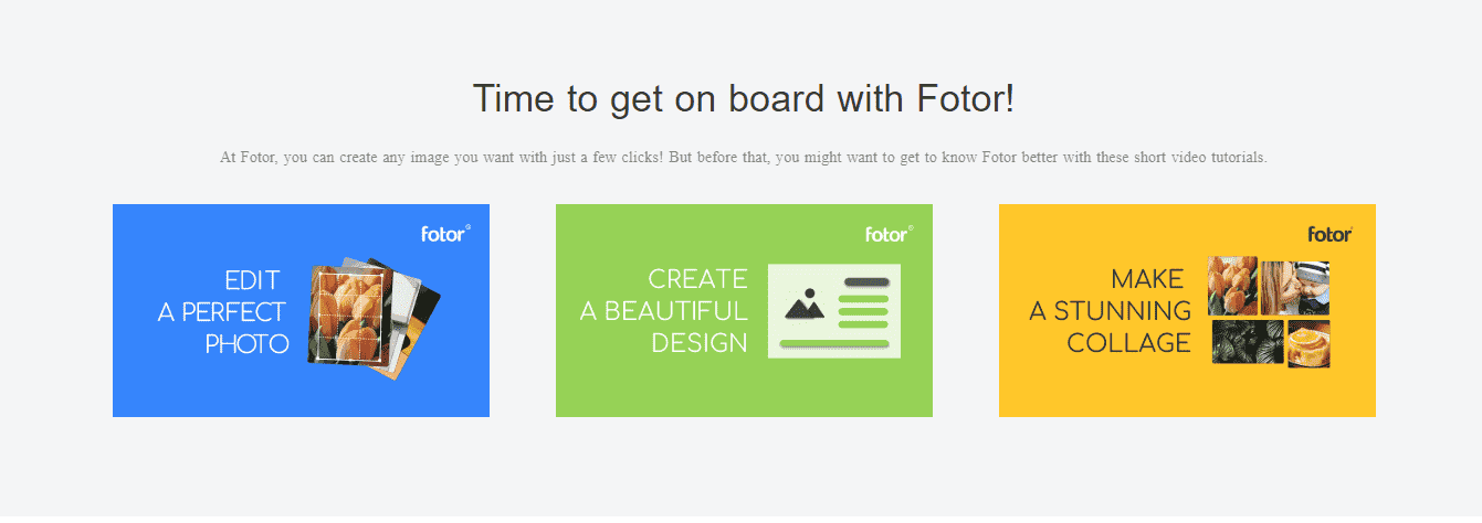 Fotor Features