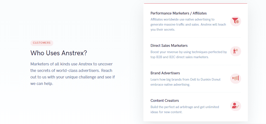 Anstrex for marketers