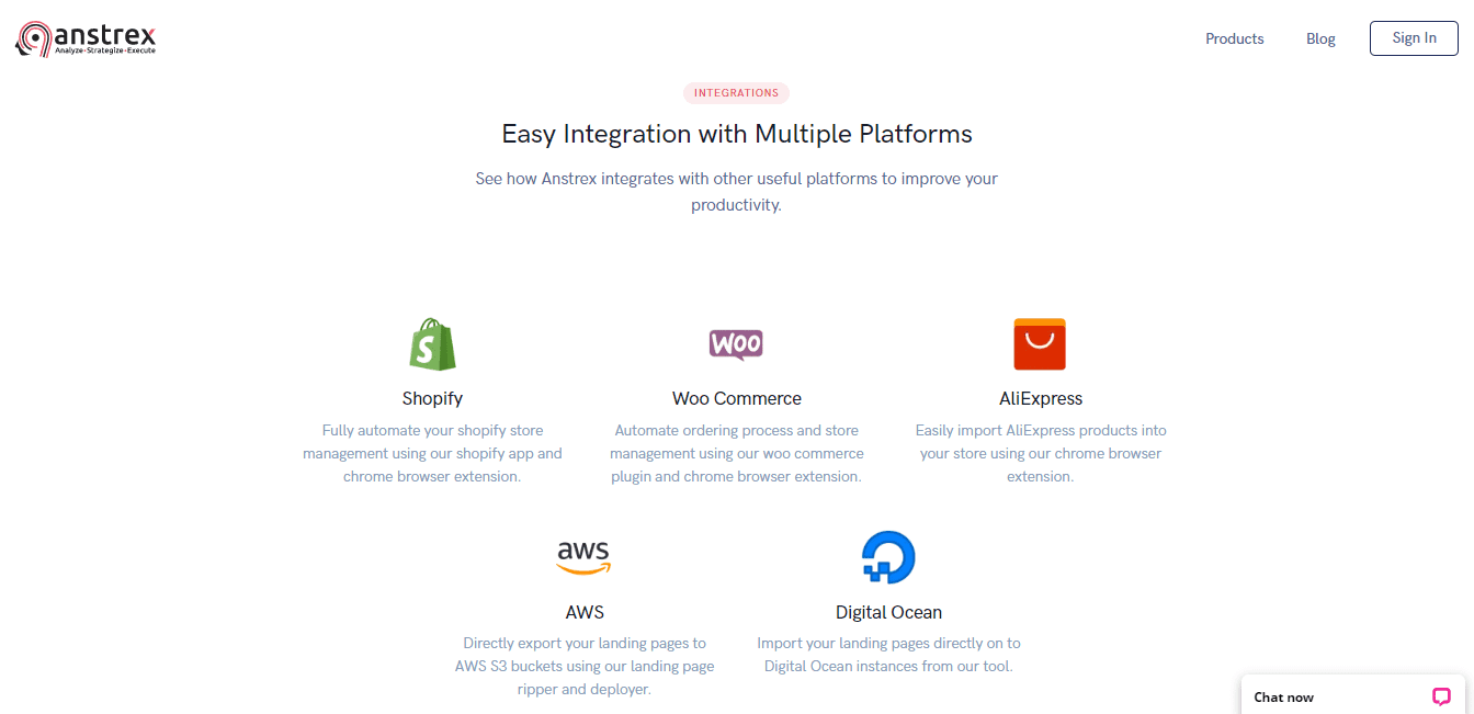 Integration with multiple platforms
