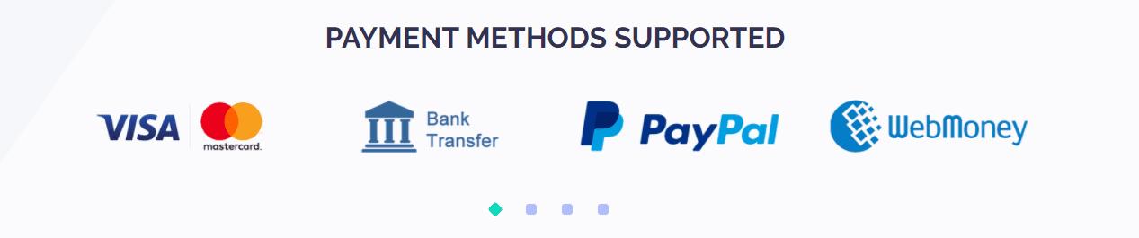 Evadav Payment methods