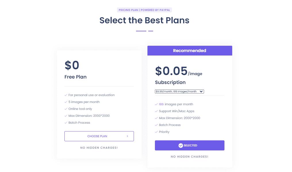 BgEraser Pricing