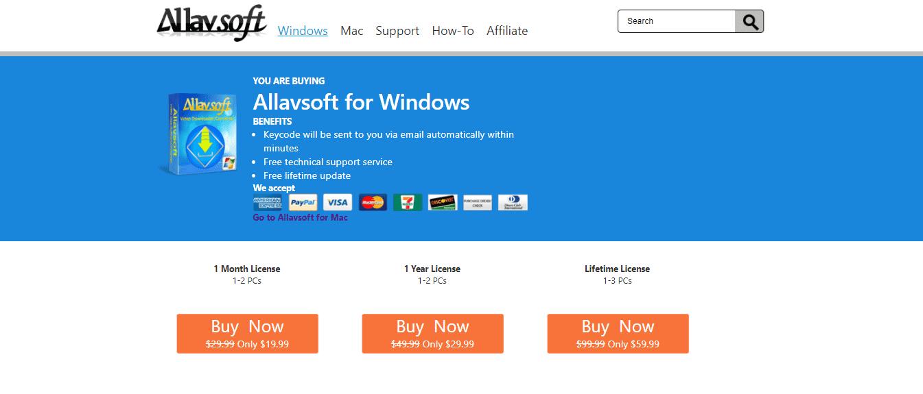 Allavsoft Pricing