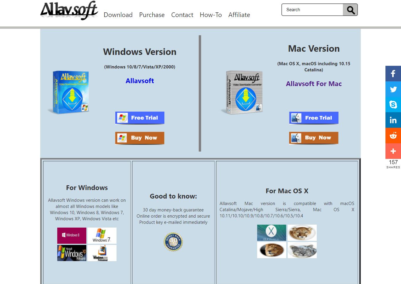Allavsoft Windows and Mac