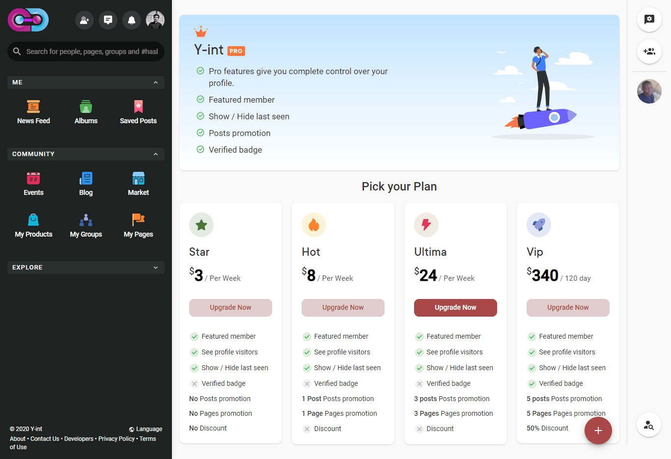 Yint Network Pricing