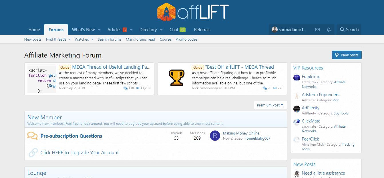 affLIFT Dashboard