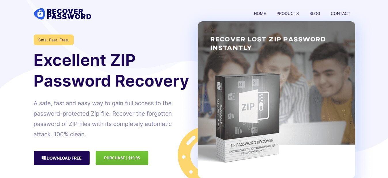 zip password recovery