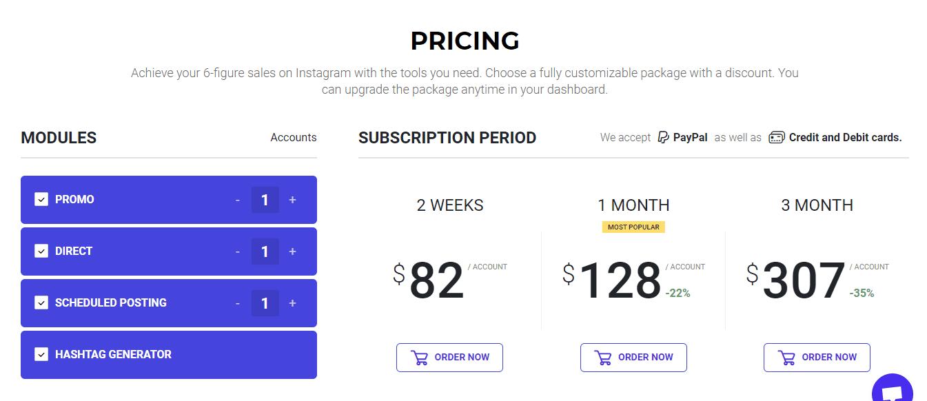 Ingramer pricing