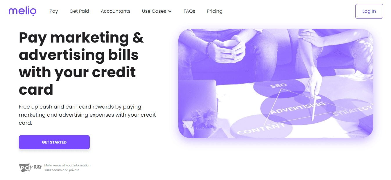 Pay with Credit Card using Melio