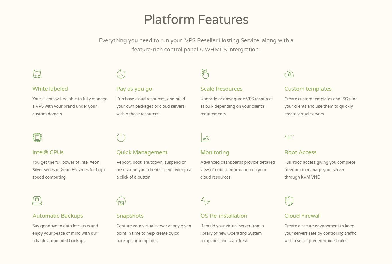 cloudcone features