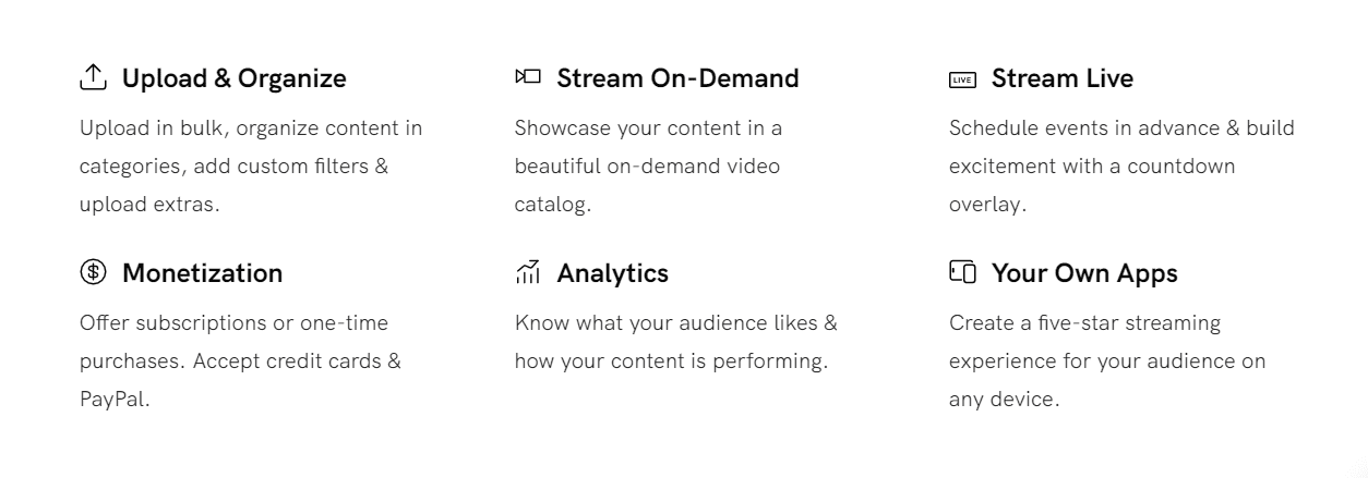 Uscreen Features