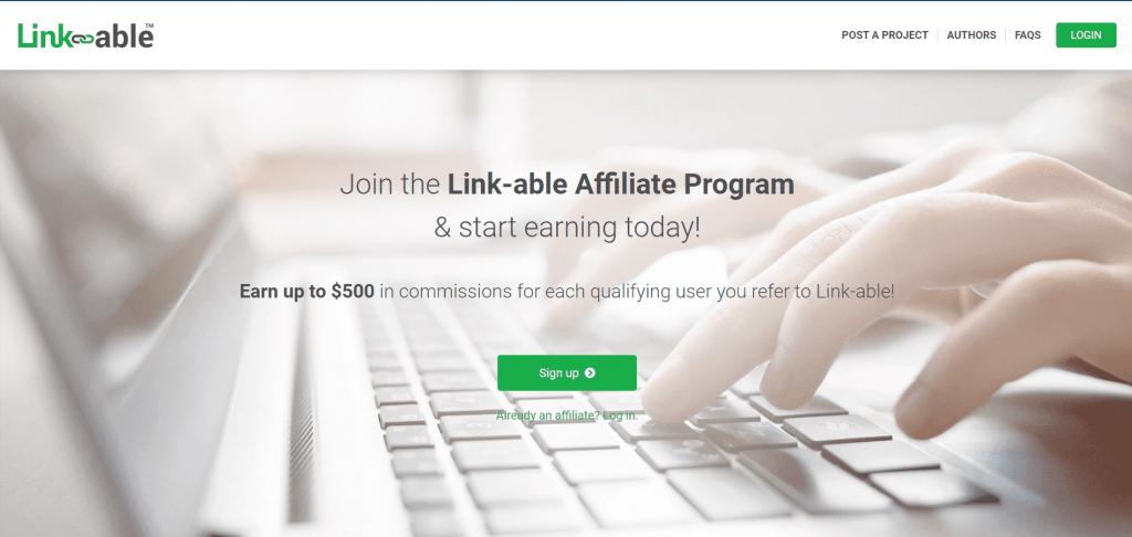 Link-able affiliate program